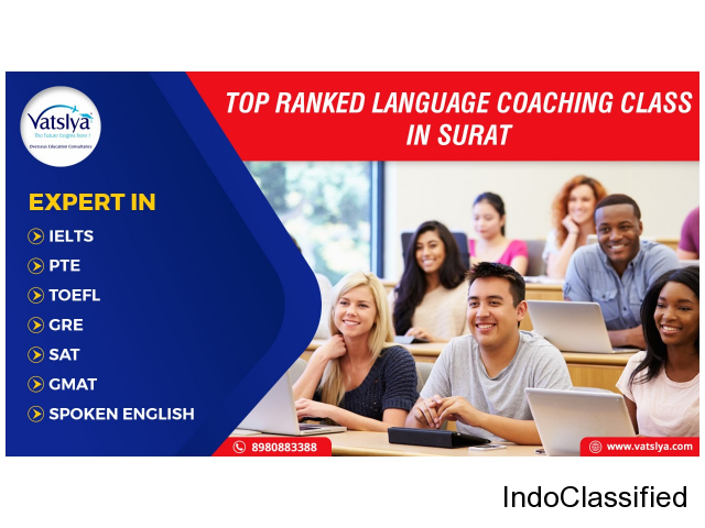 IELTS - PTE-GRE-TOEFL-GMAT-SAT-SPOKEN ENGLISH classes in Surat Gujarat India