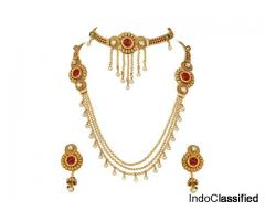 Polki Maharani Bridal Wedding Necklace Set With Choker Combo