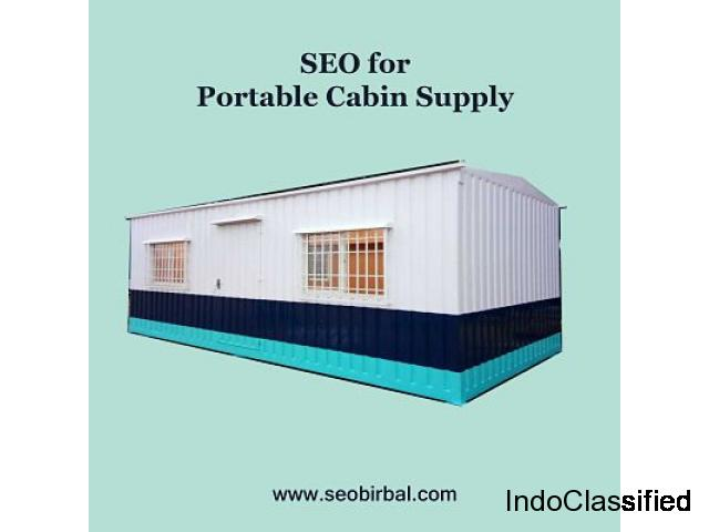 How SEO can help you grow a portable cabin supply in the Indian market.