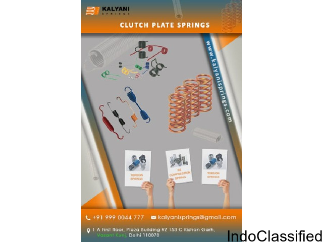 Clutch Plate Springs | Extension Springs | Wire Forms springs