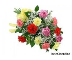 Order Online Multicolour carnations Bouquet to Vizag | Send Flowers to Visakhapatnam