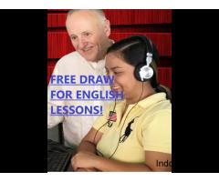 FREE FREE FREE DRAW FOR ENGLISH TUTORING