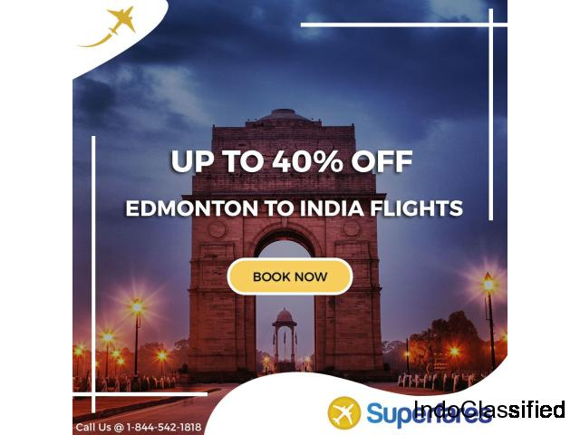 Book Cheap Flights from Edmonton to India