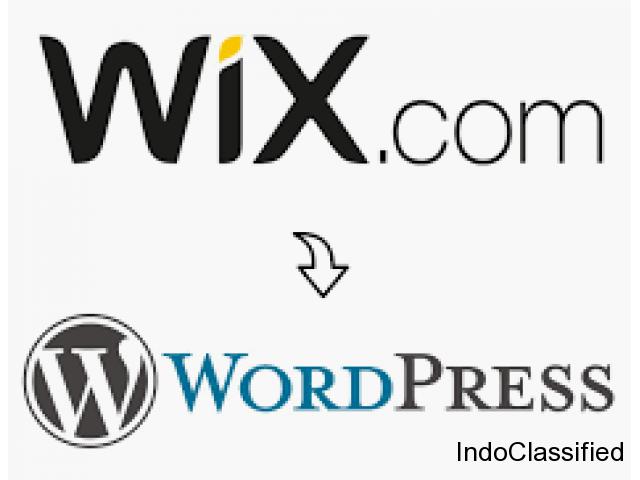 Convert wix website to wordpress