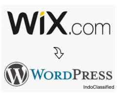 Convert wix website to wordpress