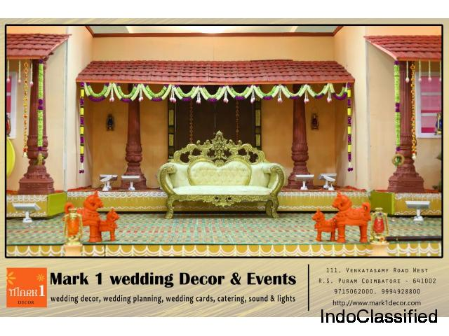 Mark1 Wedding Decors | Best Wedding Planners in Coimbatore | Chennai