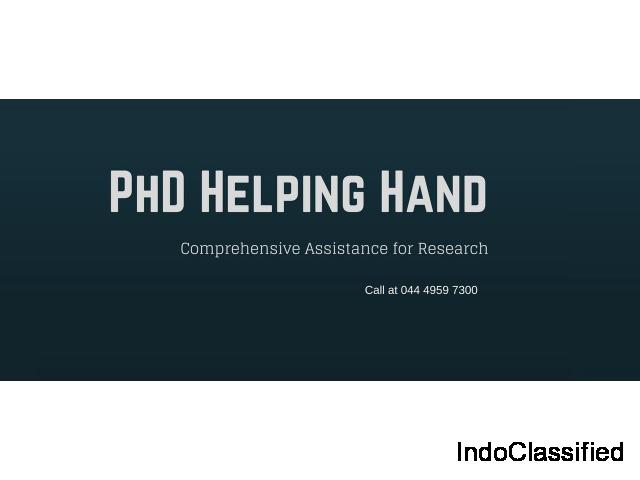 PhD Research Consulting Services - PhD Helping Hand