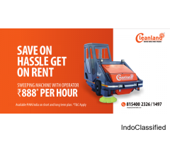 Road Sweeping Machine on Rent