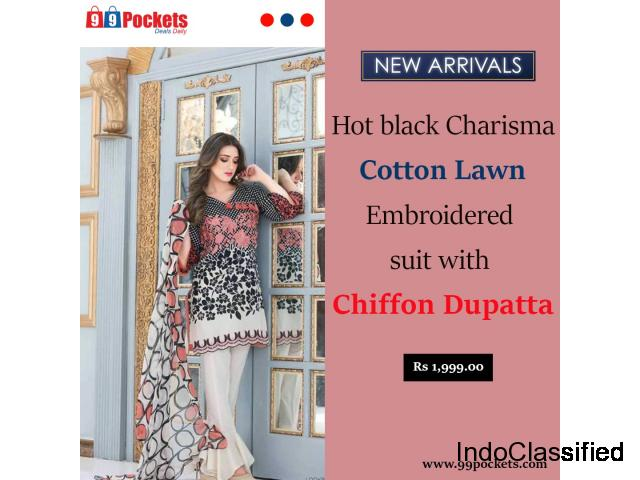 Discount Offers on Charisma Cotton Suits Collection