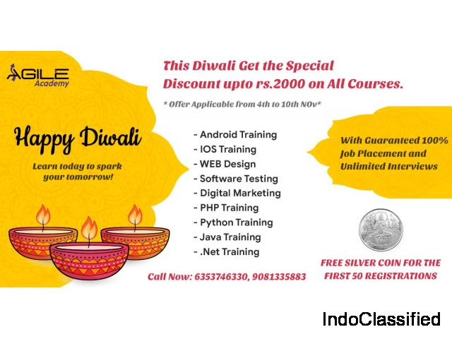 This Diwali - Get the Special Discount upto 2000rs on All Courses at Agile Academy