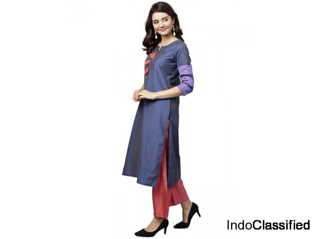 Designer Palazzo Pants with Long and Short Kurti