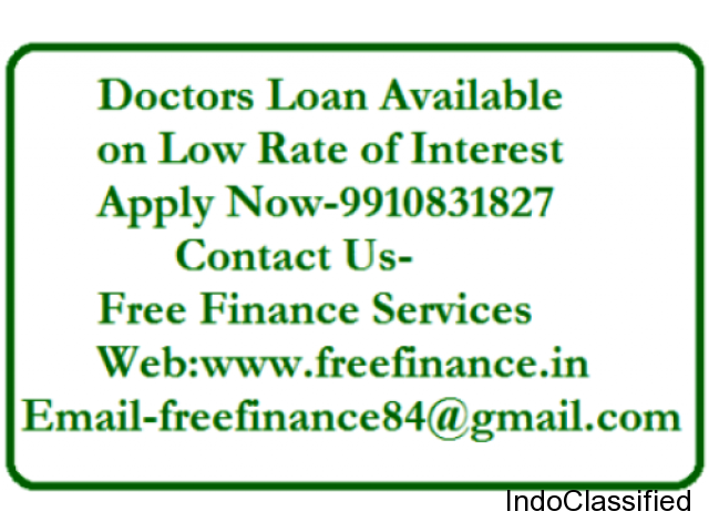 Loan For Salaried Doctors & Professional Doctors with best deal