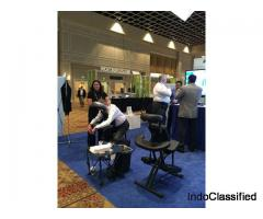 Corporate event chair massage