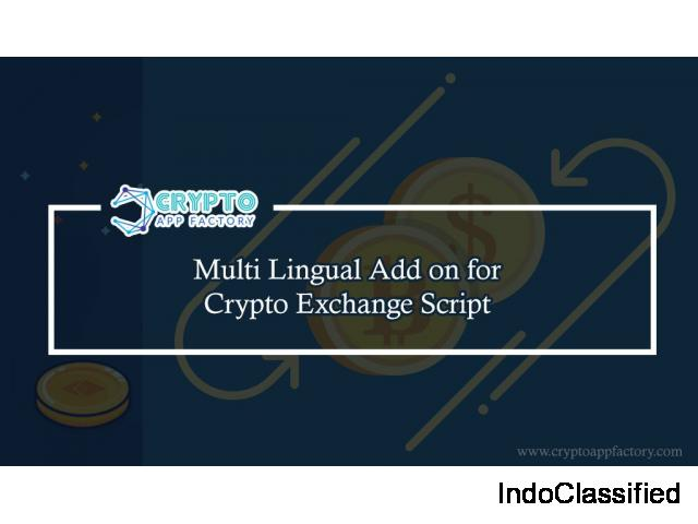 Multi Lingual Add-on for Cryptocurrency Exchange-crypto app factory