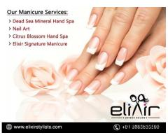 Manicure And Pedicure Services | Nail Care Treatments | Elixir Salon