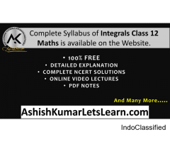 NCERT Chapter 7 Integrals Class 12 Maths