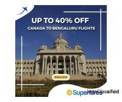 Grab Flight Tickets On Canada to Bengaluru