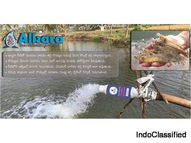 Natural eco water softener for aqua hatcheries in Hyderabad