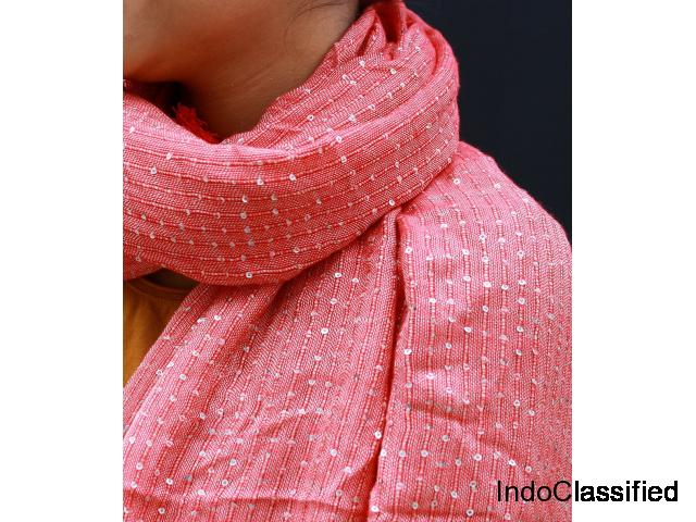 cotton scarf with tassels