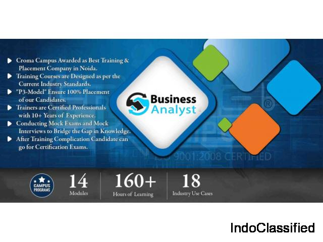 Best Business Analyst Training in Noida From Croma Campus