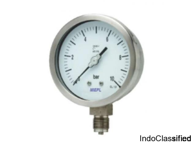MP02 All Stainless Steel Pressure Gauge - External Zero Adjustment
