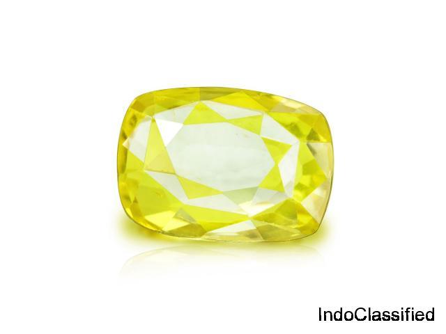 Yellow Sapphire Stone   Pukhraj Stone - Rudraksha Ratna - 1