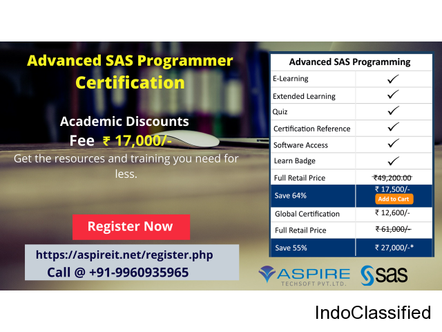 Advanced SAS Programmer Certification | Aspire Techsoft