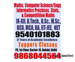 rohini sector 15 bca tuition computer engg.