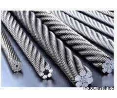 Best quality crane wire ropes for lifting purpose.