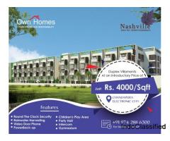 Villa Projects At Electronic City