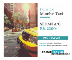 Pune To Mumbai Taxi Pawar Travels