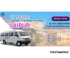 17 Seater Tempo Traveller on rent in Jaipur