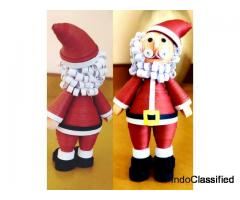 Quilling Santa Claus for gift your Child on Christmas