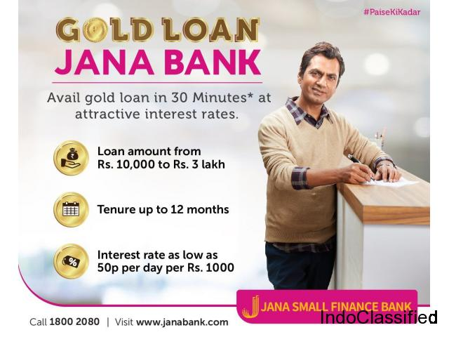 Gold Loan Interest Rate | Jana Small Finance Bank