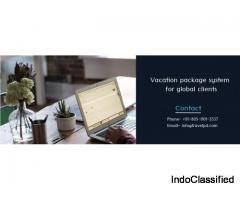 Vacation package system for global clients