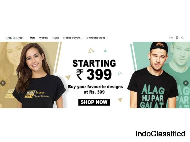 Buy Stylish & Funky T-shirts For Men & Women Starting at Just Rs. 299 - Shutcone
