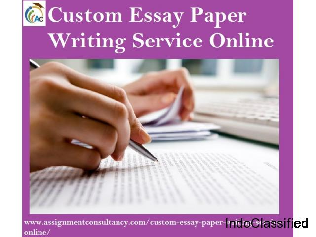 Hire Assignment Consultancy for Custom Essay Paper Writing Service Online