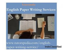 Tutorspedia Offers Best English Paper Writing Services