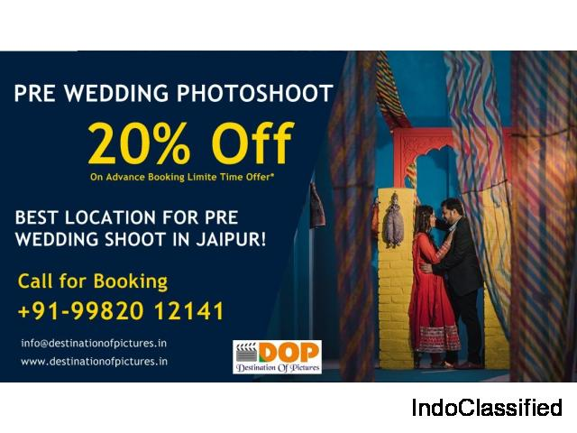 20% Off On Pre Wedding Photoshot At Jaipur Location DOP