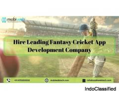 Fantasy Cricket App Development Services- Mobiweb Technologies