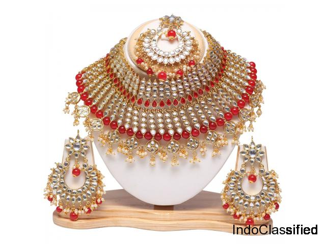 Swarajshop Artificial Kundan Necklace Jewellery For Women