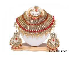 Swarajshop Artificial Kundan Necklace Jewellery For Women