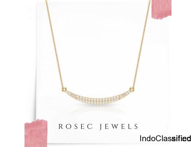 Smiley Diamond Pendant Necklace