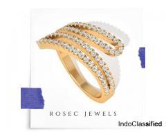 Round Diamond Wrap Adjustable Ring
