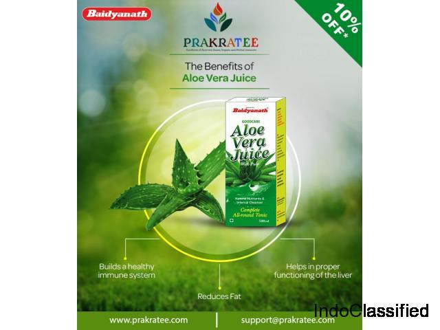 Buy Baidyanath Aloe vera juice online at www.prakratee.com