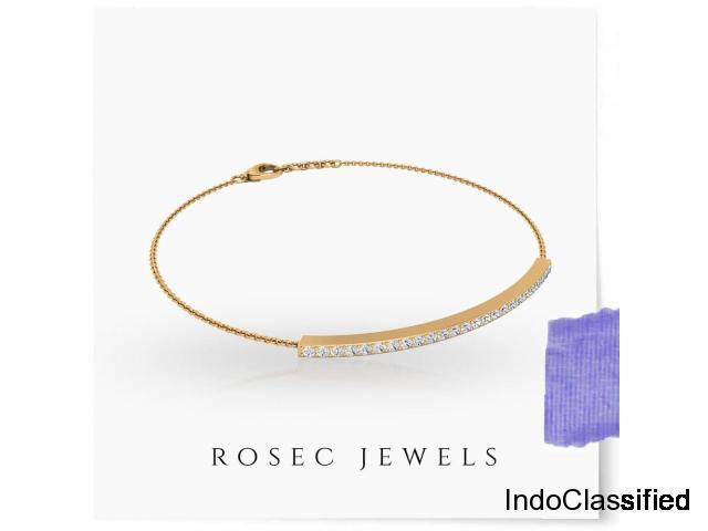Tiny Diamond Bar Bracelet