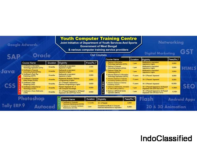 WB Government registered certificate computer course in Kolkata
