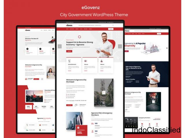 eGovenz - City Government WordPress Theme by zozothemes