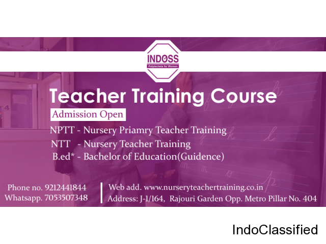 Nursery Primary Teacher Teacher Training course in Delhi