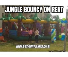 Hire jungle Bouncy by Birthday Planner company